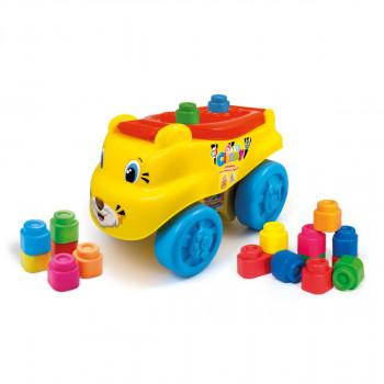 Clementoni Clemmy baby - Tygr  - vozík/chodítko s kostičkama