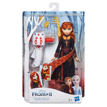 Hasbro Frozen 2 Panenka Anna se zaplétačem vlasů